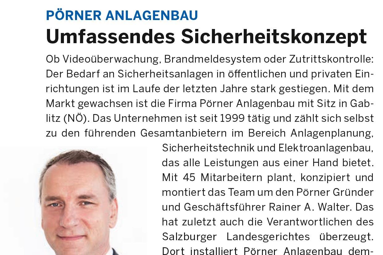 Pörner Pressebericht